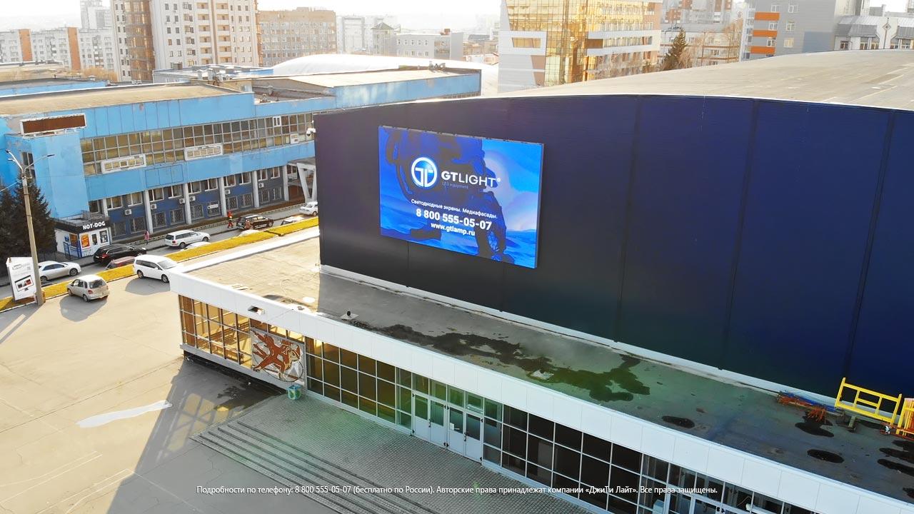 Обновленный облик Дворца спорта «Титов-Арена» с LED-экраном ДжиТи Лайт, фото 1